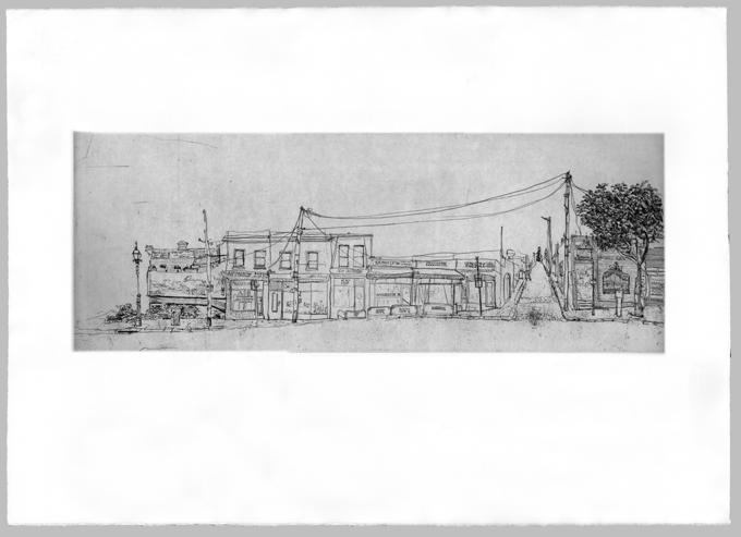Gertrude Streetscape South Plate 1, Soula Mantalvanos
