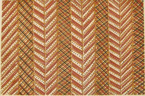 Raelene Kerinauia Liddy (Lampuwatu)parlini jilamara (old design) 32.5 x 49cm, sugar lift etching
