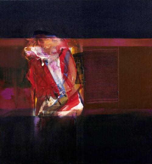John Waller Landscape with Figure oil on linen 76 x 71 cm 2020